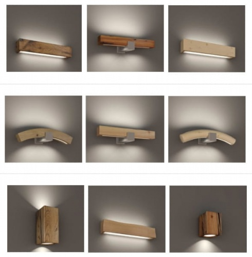 Włoskie Drewniane Lampy Wiszące I Kinkiety Kolekcja Led